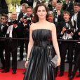 """Amira Casar - Montée des marches du film """"The Search"""" lors du 67e Festival du film de Cannes le 21 mai 2014"""