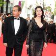 """Eric Besson et sa femme Yasmine Tordjman - Montée des marches du film """"The Search"""" lors du 67e Festival du film de Cannes le 21 mai 2014"""
