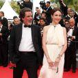 """Christophe Barratier et Elsa Zylberstein - Montée des marches du film """"The Search"""" lors du 67e Festival du film de Cannes le 21 mai 2014"""