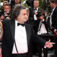 """Jean-Pierre Léaud - Montée des marches du film """"The Search"""" lors du 67e Festival du film de Cannes le 21 mai 2014"""