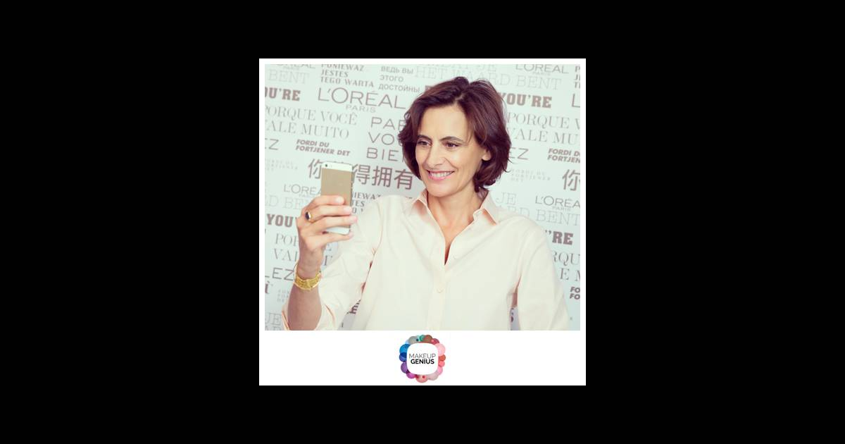 Inès de la Fressange teste l'application Makeup Genius de ...