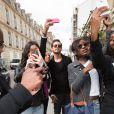 Scott Disick - Kim Kardashian et sa soeur Kourtney sont allées déjeuner à l'Avenue puis à la boutique Baby Dior. Plus tard, Kim s'est rendue à la tour Eiffel - Paris 22 mai 2014
