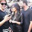 Kim Kardashian a été déjeuner à l'Avenue puis faire du shopping chez Baby Dior avant de se rendre à la Tour Eiffel - Paris le 22 mai