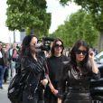 Kim Kardashian a été déjeuner à l'Avenue puis faire du shopping chez Baby Dior avant de se rendre à la Tour Eiffel - Paris le 22 mai 2014