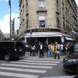 Kim Kardashian arrive au restaurant L'Avenue à Paris pour un déjeuner en famille. Le 22 mai 2014