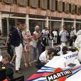 Pierre Casiraghi et Beatrice Borromeo en couple dans les coulisses du Grand Prix de Monaco le 25 mai 2014