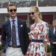 Pierre Casiraghi et sa compagne Beatrice Borromeo, en habitués, ont profité le 25 mai 2014 du Grand Prix de Monaco