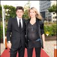 Marc Lavoine et Sarah Lavoine lors de l'anniversaire de Johnny Hallyday le 15 juin 2010 à Paris