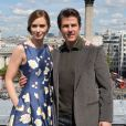"Tom Cruise, Emily Blunt - Photocall du film ""Edge of Tomorrow"" sur le toit de l'hôtel Trafalgar à Londres, le 25 mai 2014."