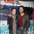 Audrey Dana et Mabrouk El Mechri lors de la présentation du film OSS 117 : Rio ,e répond plus à Paris le 7 avril 2009
