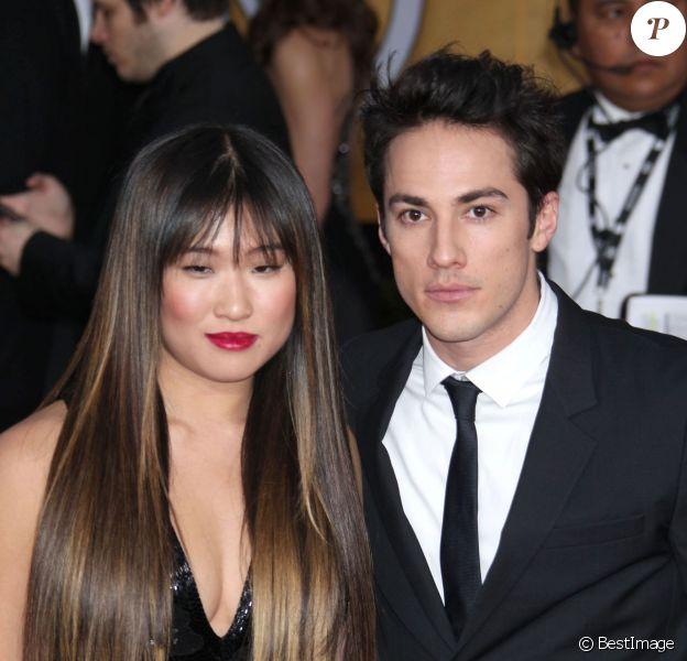 """Jenna Ushkowitz et Michael Trevino à la 19e cérémonie des """"Screen Actors Guild Awards"""" à Los Angeles, le 27 janvier 2013."""