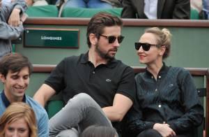 Roland-Garros : Audrey Lamy, une supportrice lovée contre son amoureux