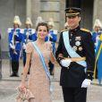 Le prince Felipe d'Espagne et la princesse Letizia à Stockholm en 2010.