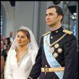 Mariage de Felipe d'Espagne et Letizia à Madrid le 23 mai 2004.
