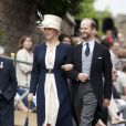 Lady et Lord Nicholas Windsor à la chapelle Saint George le 14 juin 2010 pour les cérémonies de l'ordre de la jarretière.