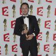 Davy Sardou (prix du meilleur acteur dans un second rôle) lors de la 26e nuit des Molières aux Folies Bergère à Paris, le 2 juin 2014.