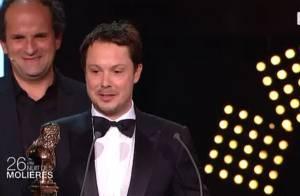 Molières 2014 : Davy Sardou, lauréat touchant devant sa femme et son père