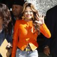"""LaToya Jackson assiste à l'emission """"Extra"""" à Los Angeles, le 16 avril 2013."""