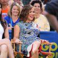 Alyssa Milano enceinte chez Good Morning America à New York le 2 juin 2014.