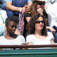 Aïssa Maïga lors des Internationaux de France de tennis de Roland-Garros à Paris, le 5 juin 2014.