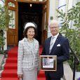 Le roi Carl XVI Gustaf et la reine Silvia de Suède célèbraient la Fête Nationale à Ange le 6 juin 2014