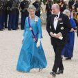 Margrethe II de Danemark lors du banquet à l'Elysée donné en l'honneur de la reine Elizabeth II, Paris, le 6 juin 2014.