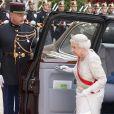 La reine Elizabeth II d'Angleterre lors du banquet à l'Elysée donné en l'honneur de la reine Elizabeth II, Paris, le 6 juin 2014.