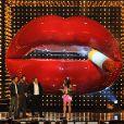 La star Sandra Bullock a reçu le prix 'Decade of Hotness', des mains de Matthew McConaughey, Keanu Reeves et Hugh Grant lors des Spike TV's 'Guys Choice 2014, à Los Angeles, le 7 juin 2014.