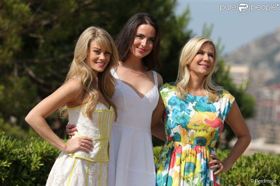 Kim Matula, Ashleigh Brewer et Katherine Kelly Lang au photocall d'Amour Gloire et Beauté à Monte Carlo, le 8 juin 2014