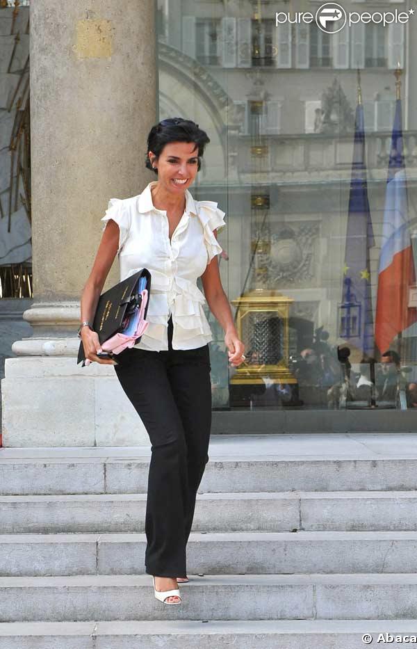 Rachida Dati lors du conseil des ministres du 27/08/2008