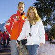 Michael Schumacher et son épouse Corinna à Madonna di Campiglio, le 12 janvier 2005