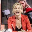 """La belle Elsa Pataky sur le plateau de l'émission télé """"El Hormiguero"""" à Madrid en Espagne le 6 juin 2014."""