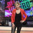 """Elsa Pataky sur le plateau de l'émission télé """"El Hormiguero"""" à Madrid en Espagne le 6 juin 2014."""