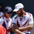Pippa Middleton et son frère James lors du départ de l'équipe de la Michael Matthews Foundation pour la 33e Race to America, le 14 juin 2014 à Oceanside, San Diego (Californie). Le début d'un périple extrême de près de 5 000 km en huit jours, que seuls les plus costauds peuvent réussir à accomplir.