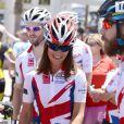 Pippa Middleton lors du départ de l'équipe de la Michael Matthews Foundation pour la 33e Race to America, le 14 juin 2014 à Oceanside, San Diego (Californie). Le début d'un périple extrême de près de 5 000 km en huit jours, que seuls les plus costauds peuvent réussir à accomplir.