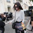 Kendall Jenner - Kim Kardashian et sa fille North se rendent à la boutique Givenchy avenue George V à Paris le 20 mai 2014