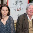 """Anne Goscinny, Jean-Jacques Sempé - Vernissage de l'exposition """"Les vacances du petit Nicolas"""" à la mairie du 4e à Paris le 18 juin 2014."""