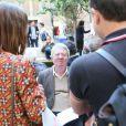 """Exclusif - Jean-Jacques Sempé en séance de dédicace - Vernissage de l'exposition """"Les vacances du petit Nicolas"""" à la mairie du 4ème à Paris le 18 juin 2014."""