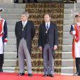 Jesus Posada et Pio Garcia Escudero - Le roi Felipe VI, la reine Letizia d'Espagne et leurs filles, la princesse Leonor et l'infante Sofia, arrivent au parlement pour la cérémonie d'investiture à Madrid. Le 19 juin 2014.