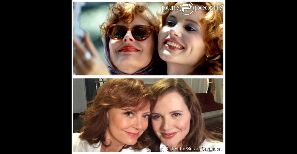 """ Inventors of the #selfie at it again. #ThelmaAndLouise """