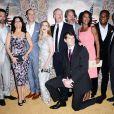 """Reid Scott, Tony Hale, Julia Louis-Dreyfus, Anna Chlumsky, Matt Walsh, Gary Cole et Sufe Bradshaw à la première de la saison 3 de """"Veep"""" à Los Angeles, le 25 mars 2014."""