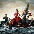 """Julia Louis-Dreyfus et son équipe de bras cassés, poster de la saison 3 de """"Veep"""", diffusée en 2014 sur HBO."""