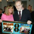 Exclusif - Jean-Jacques Debout et sa femme Chantal Goya - Jean-Jacques Debout reçoit 2 Disques d'Or à Paris le 19 juin 2014.