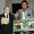 Exclusif - Jean-Jacques Debout et Georges El Assidi - Jean-Jacques Debout reçoit 2 Disques d'Or à Paris le 19 juin 2014.