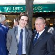 François Lebel et son fils Clément lors du déjeuner Père & Fils, mardi 24 juin 2014, aux Deux Magots à Paris.