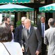 """Valéry Giscard d'Estaing - 9ème édition du déjeuner """"Pères & Fils"""" à Paris le 24 juin 2014"""