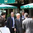 """Valéry Giscard d'Estaing - 9ème édition du déjeuner """"Pères & Fils"""" à Paris le 24 juin 2014."""