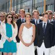 Mélanie-Antoinette de Massy, Pauline Ducruet, Louis Ducruet, Pierre Casiraghi et Andréa Casiraghi - Le prince Albert et la princesse Charlene de Monaco, enceinte, inaugurent le nouveau Yacht Club de Monaco, Port Hercule, à Monaco le 20 juin 2014.