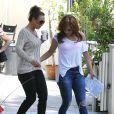 Jennifer Lopez sur le tournage d'une publicité à Hollywood, le 23 juin 2014.