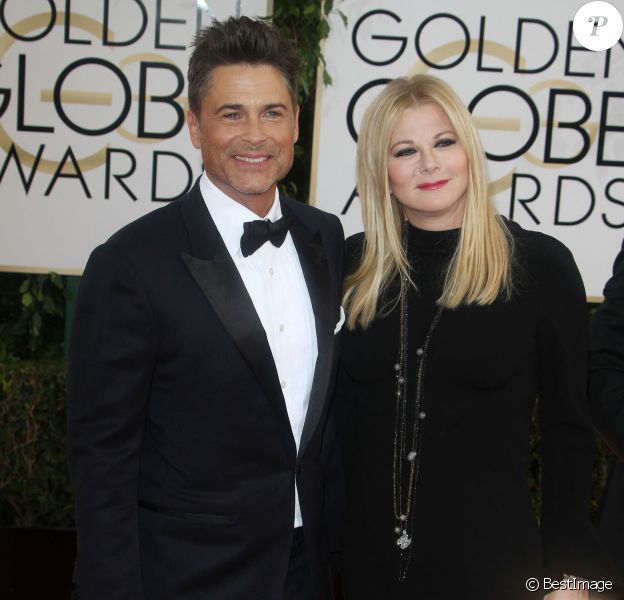 Rob Lowe et sa femme Sheryl Berkoff à Beverly Hills, le 12 janvier 2014.